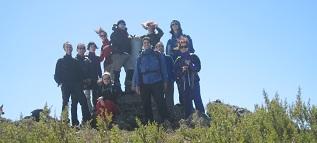En la cima de la Buitrera